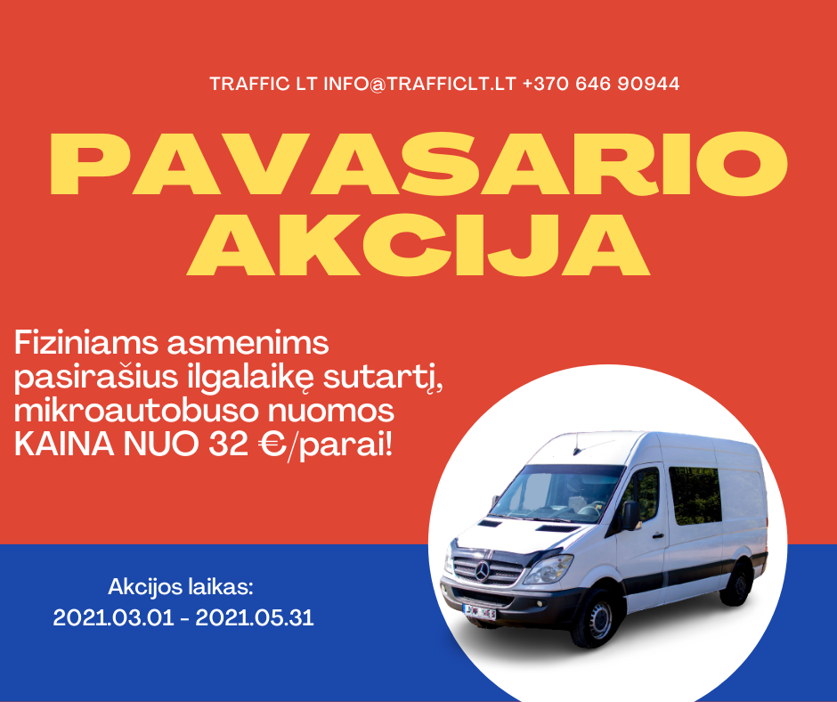 Mikroautobusų nuoma akcija